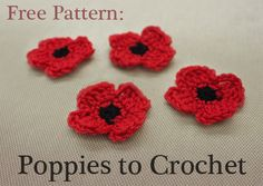 Free Crochet Poppy Brooch Pattern : 1000+ ideas about Crochet Poppy Pattern on Pinterest ...