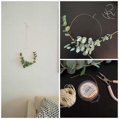 Super simpler DIY Blumenkranz für Tür oder Wandschmuck! Tutorial auf dem Blog!