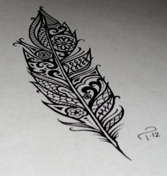 feather tribal by Talulah