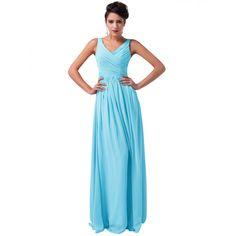 Modré spoločenské šaty CL6010-3 Prom Dresses With Sleeves, Long Dresses, Maxi Dresses, Dress Long, Prom Dress 2014, Formal Gowns, Red Green, Chiffon, Prom Party