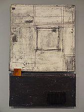 "Black, White, and Rust by Lori Katz (Ceramic Wall Sculpture) (22.5"" x 14.75"")"