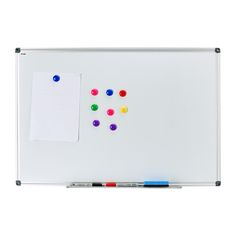 "Dry Erase Drywipe Magnetic Whiteboard 48""x36""Silver Aluminium Frame 122cm x91cm Notice Memo Board Office Home School White board"
