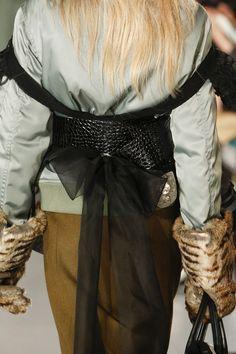 John Galliano for Maison Margiela Autumn-Winter 2016 'Défilé' collection Look 3  Model - Natalie Ludwig   Details