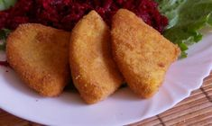 rántott sajt Love Eat, Pork Recipes, Cornbread, Healthy, Ethnic Recipes, Food, Millet Bread, Eten