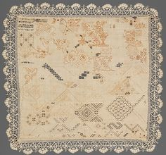 Sampler (cutwork and blackwork) ~ ca.1600 ~ Italian ~ Classification: Textiles-Embroidered ~ Metropolitan Museum of Art ~ Accession Number: 20.186.366