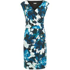 Planet Flower Print Dress, Multi Blue (£49) ❤ liked on Polyvore