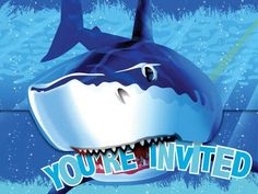 Creative Converting Shark Splash Birthday Party Invitations, 8 Count Creative Converting,http://www.amazon.com/dp/B0076PEJ2M/ref=cm_sw_r_pi_dp_HHL-sb0T1MCEFYPR