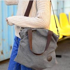 Women Casual Canvas Large Capacity Handbag Outdoor Shoulder Bag - Monica R. School Bag Storage, Student Storage, New School Bags, Travel Cosmetic Bags, Travel Bag, Crossbody Wallet, Casual Bags, Printed Tote Bags, Cross Body Handbags