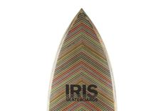 Legend has it that modern skateboarding was invented by surfers in California who wanted to continue shredding even when there were no waves to be had. The Iris Surf Board honors this tradition with its construction. Made by covering a. Surfboard Craft, Skate Decks, Cool Gear, Longboarding, Skateboards, Inventions, Iris, Westerns, Surfing