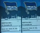 #Ticket  Hertha BSC  FC Schalke 04  2 Tickets Block B.4 #deutschland