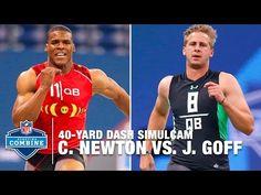 Cam Newton vs. Jared Goff 40-Yard Dash Simulcam Race | 2016 NFL Combine Face Off…