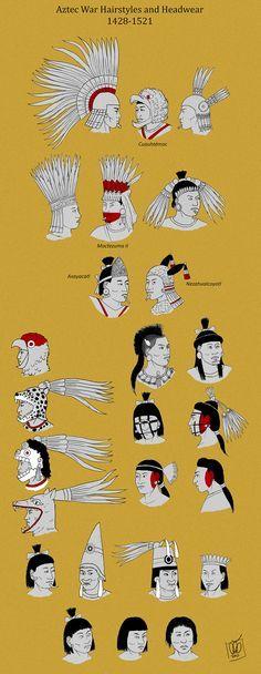 Aztec Warrior Hairstyles by Kamazotz.deviantart.com on @DeviantArt