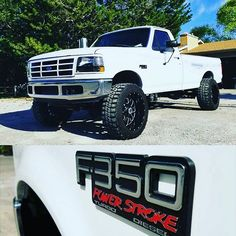 @dev_daddy showing off our custom OBS F350 Powder Stroke badges on his rig…