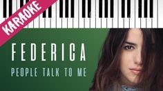 Federica Carta   People Talk To Me   AMICI 16   Piano Karaoke con Testo