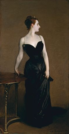 """As Henry James remarked in 1887: """"It sounds like a paradox, but it is a very simple truth, that when to-day we look for 'American art' we find it mainly in Paris."""" Read this Heilbrunn Timeline of Art History essay, Americans in Paris, 1860–1900, and view a slideshow of works.   John Singer Sargent (American, 1856–1925). Madame X (Madame Pierre Gautreau), 1883–84. The Metropolitan Museum of Art, New York. 1883–84 (16.53) #paris"""