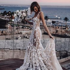 Sexy And Elegant Sling Print Dress – Naychic Wedding Dresses With Flowers, Princess Wedding Dresses, Dream Wedding Dresses, Bridal Dresses, Wedding Gowns, Destination Wedding Dresses, Cinderella Wedding, Dream Dress, Wedding Bride