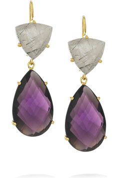 Isharya | Libra 18-karat gold-plated amethyst earrings | NET-A-PORTER.COM