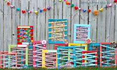 Picture Frame Message & Display Center -- Cute idea for storing a girl's hair clips