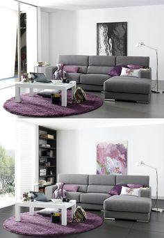 Combinación de Fotografía e Infografía para sofa Plum Living Rooms, Living Room Decor Purple, Living Room Turquoise, Living Room Color Schemes, Living Room Colors, Living Room Grey, Living Room Designs, Classy Living Room, Living Room Decor Inspiration