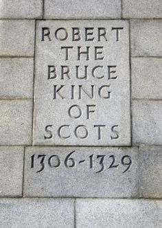 I never realized how very young he was! The monument to Robert the Bruce at Bannockburn.