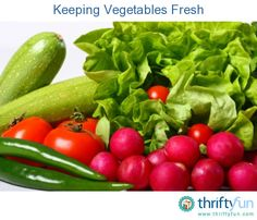 This is a guide about keeping vegetables fresh. It is always frustrating to buy a bunch of fresh vegetables only to have them go bad before you get to eat them. Keeping them fresh until you need them will save you money.