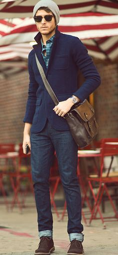 But if I ever saw a man actually dressed like this, I'd probably stare at him like he was a unicorn. A very well-dressed unicorn. #men casual style #men fashion
