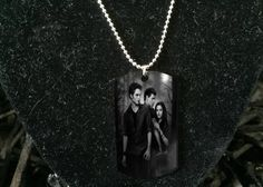 Silver plated Twilight  necklace Army ID Dog tag by pacforme
