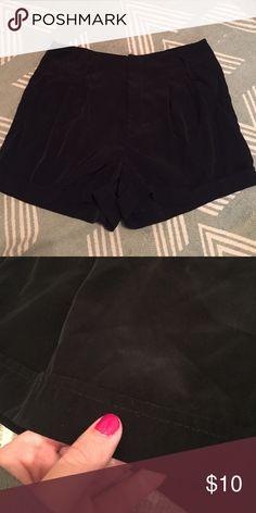 Black dress shorts Black 100% polyester dress shorts. Size small. Shorts