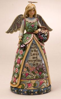 Jim Shore angel Glory In The Garden. In stock at Oak Valley Jewelers. Jim Shore Christmas, Christmas Angels, Clay Angel, Lakeside Collection, I Believe In Angels, Garden Angels, Angels In Heaven, Heavenly Angels, Angels Among Us