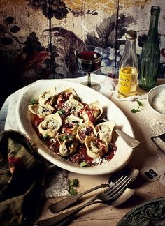 BEEF AND SHIRAZ TORTELLONI, ROASTED TOMATO SAUCE ... among other amazing recipes
