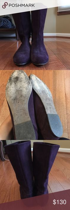 Joie deep purple suede boots Joie deep purple suede boots size 39 (US size 8). Worn 4 times at the most. Great condition. Super comfortable! Made in Italy. Joie Shoes