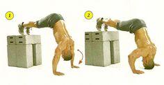 Shoulder workout via Men's Fitness.