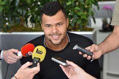 Jo-Wilfried Tsonga during media day at the ATP Monte Carlo Masters on April 10, 2016...