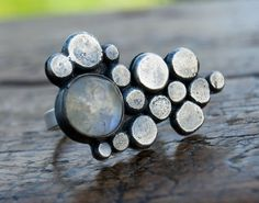 Ring | Alison Moore.  Sterling silver and Moonstone