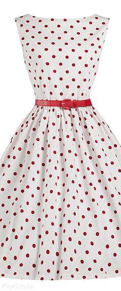 Lindy Bop 'Audrey' Polka Dot Vintage 1950's Swing…