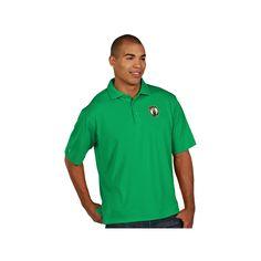 Men's Antigua Boston Celtics Pique Xtra-Lite Polo, Size: Medium, White Oth
