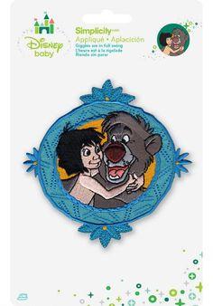 Disney Jungle Book Mowgli and Baloo Framed Iron On Applique - Herrschners