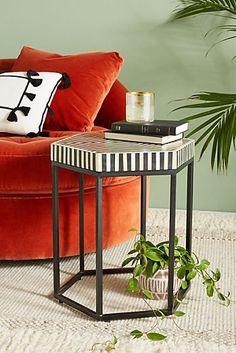Hexagonal Inlay Side Table