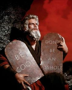 so we really only need 2 commandments...