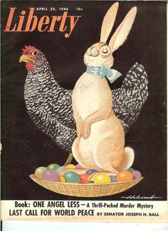 Vintage April 1946 Liberty Magazine  Easter by MuddyRiverAntiques,