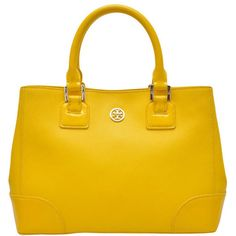 Tory Burch Robinson Mini Square Tote ($676) ❤ liked on Polyvore