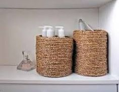 *Wrap rope around coffee cans! Great for storage!
