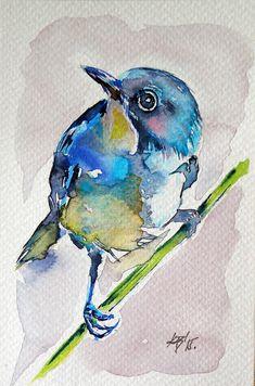 Bird Painting by Kovacs Anna Brigitta