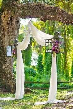 Inexpensive backyard wedding decor ideas 17