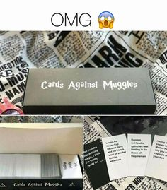 Harry Potter cards against muggles >> I need this now