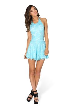Once Upon A Time Sky Blue Playsuit - LIMITED by Black Milk Clothing $99AUD