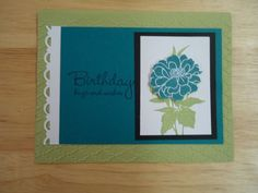 Stampin Up Fabulous Florets Birthday Day Card