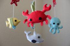 Baby Mobile  Baby Crib Mobile  Ocean Sea by dropsofcolorshop, $90.00