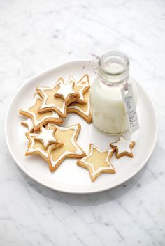 cookie decorating without food coloring idea -adapt to allergen free Christmas Sweets, Noel Christmas, Christmas Baking, Christmas Cookies, Simple Christmas, Star Cookies, Milk Cookies, Biscuit Cookies, Cupcakes