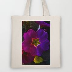 Primula Rainbow Tote Bag by Fiona & Paul Photography and Digital Art - $18.00